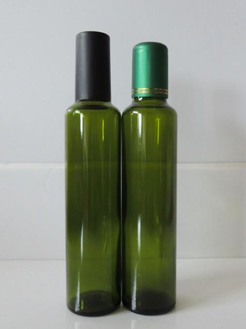 250ml vintage black/dark green olive oil glass bottle