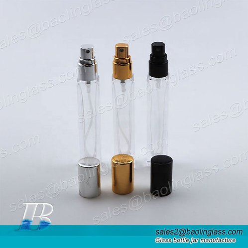 wholesale square clear 10ml 30ml 50ml 100ml glass perfume bottle with spray cap