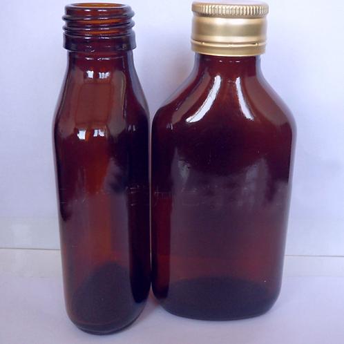 100ml medicine oral liquid square glass bottle