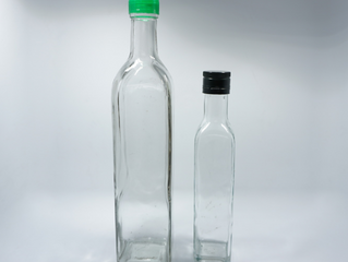 500ml and 750ml premium clear olive oil glass bottle