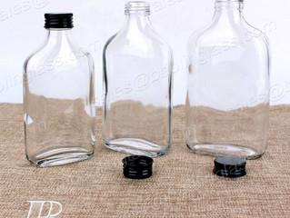 250ml 320ml 500ml Clear Glass Flask Bottle for Wine/Juice/Beverage