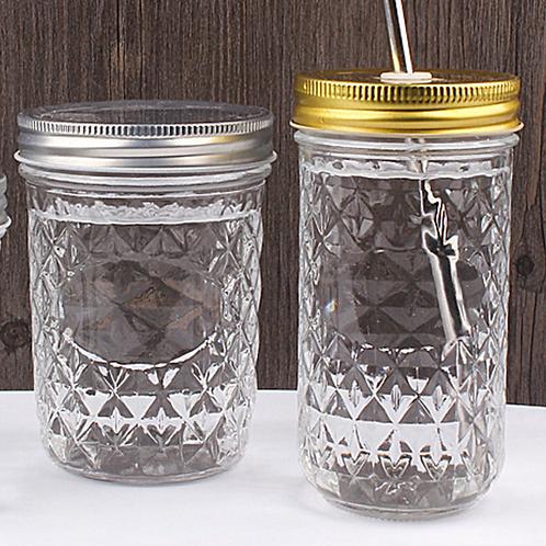 200ml 250ml 350ml 480ml caviar glass jar glass canister
