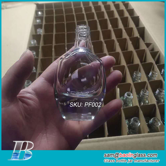 Clear Refillable Glass Perfume Bottle Atomizer