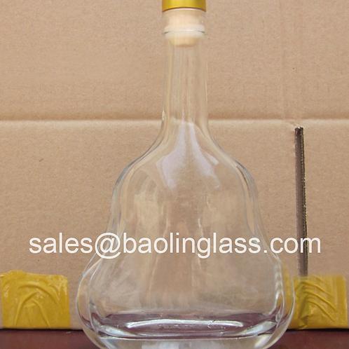 500ml spirits liqueur glass bottle with cork stopper