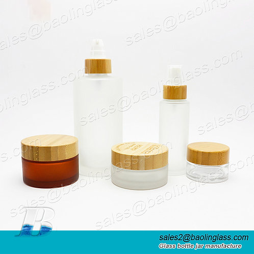 15/30/50/100 g ml eco friendly bamboo glass dropper bottle spray pump cap bamboo