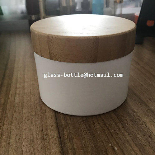 150g 200g 250g wide mouth jar with bamboo lid
