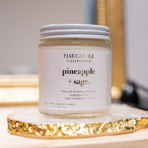 Pineapple + Sage Petite Aurum Candle