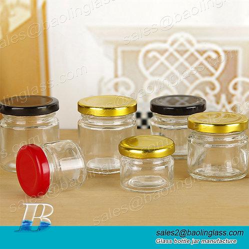 0.5-1L New Design Cylinder bird nest bottle glass jam jar food storage