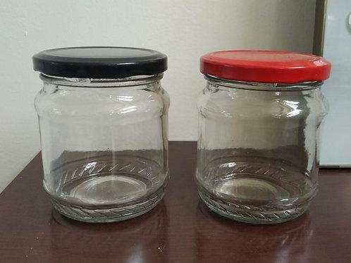 glass mason jars for peanut butter