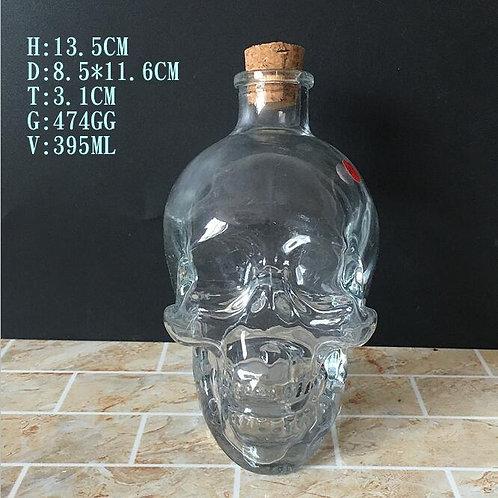 400ml 750ml skull head vodka spirits glass bottle