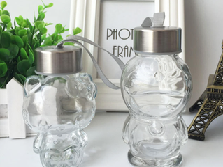 50ml 80ml 160ml bear shape glass bottle
