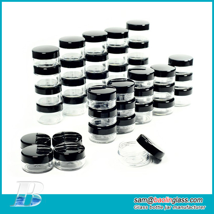 Makeup Sample Glass Containers with lids