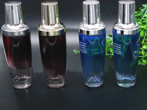 120ml 4oz black glass skin toner bottle