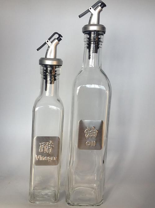 500ml 750ml vinegar or oil glass bottle with pourer