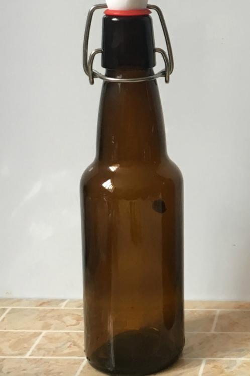 330ml swing clip top amber beer glass bottle