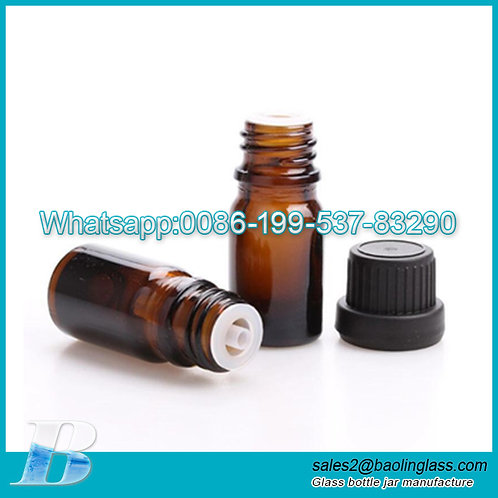 5ml 10ml 15ml 20ml 30ml amber color glass bottle for essential oil