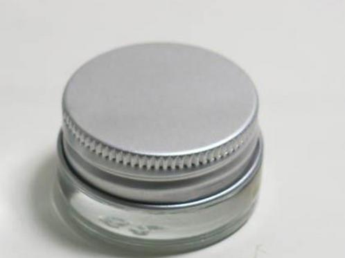 high quality glass cream jar with aluminum lids