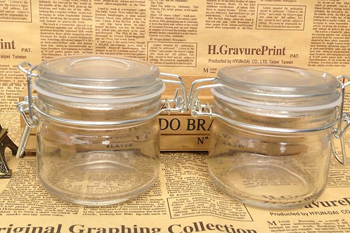 Hermetic clip glass jar 250mml and 400ml