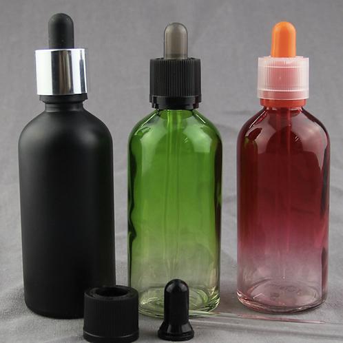 100ml 3.3 fl oz glass essential oil bottle