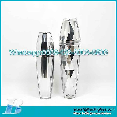 60ml Diamond Acrylic Emulsion Lotion Bottle with Pump