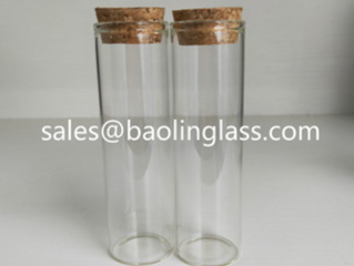 50ml candy or pill glass tube bottle
