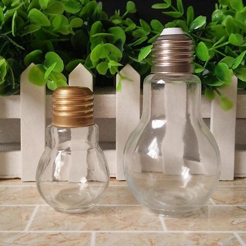 2 oz 4 oz 8oz bulb shape glass beverage bottle