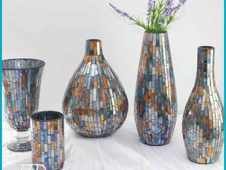 Decorated Art Glassware Glass mosaic Vase