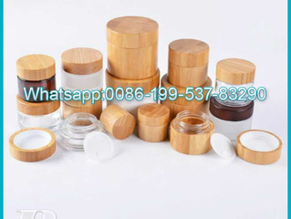 Hot selling 15g 30g 50g 100g Bamboo lid cosmetic jar cream bottle bamboo eyes Bamboo cosmetic set