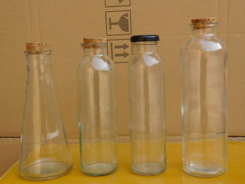 350ml beverage glass bottle with cork