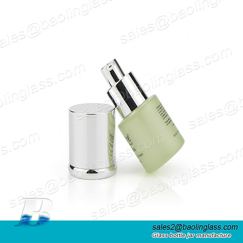 30ml 50ml Luxury skin care facial  frosted matte green glass bottle cosmetic