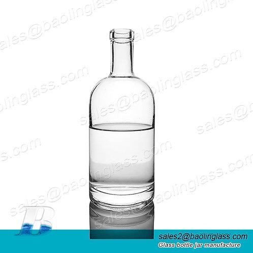 700ml 750ml High Quality Liquor Spirit Glass Bottle for Gin Vodka