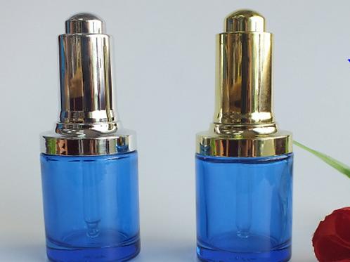 30ml glass serum blue dropper bottle