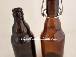 330ml new type amber beer glass bottle with swing top