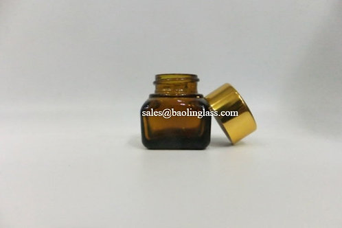 15ml high quality amber glass eye cream jar cosmetic container