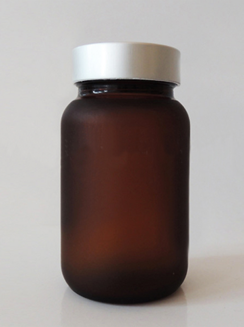 200ml frosted amber capsule pill glass jar