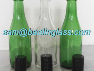 187 ml Clear/green/amber Champagne Glass Bottles 24 per case