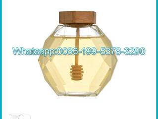 Wholesale-380ml-glass-jar-honey-mini-honey-jars-glass-hexagonal-seal-designed-storage-container-jars