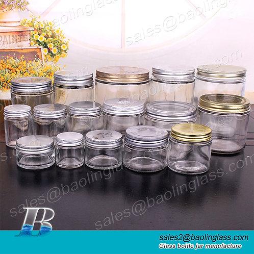 honey jar 4oz custom design glass jar cheap jam jars with metal lids