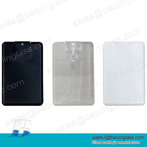 Wholesale pocket plastic credit card spray bottle 20ml spray plastic bottle