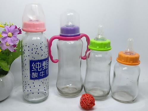 150ml 280ml Baby Milk Power Bottle Natural Feeding Glass Bottle