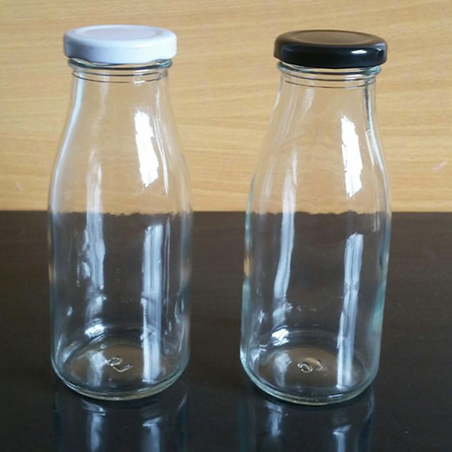 8oz 250ml french square glass bottle