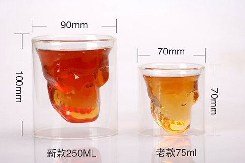75ml 250ml Doomed crystal skull shot glass