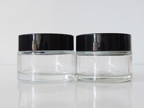 30ml clear cosmetic cream glass jar