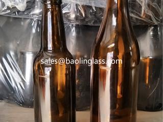 330ml 500ml brown beer glass bottle with crown cap