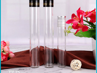 Glass test-tube for wine packaging with aluminum cap