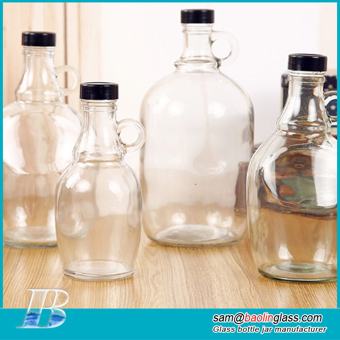 Personalized Clear Glass Growler 64 oz