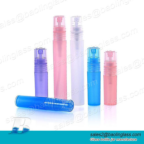 5ml 10ml pen shape frosted plastic spray bottle with perfume fine mist sprayer