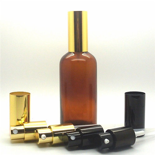 100ml amber glass bottle with pump sprayer
