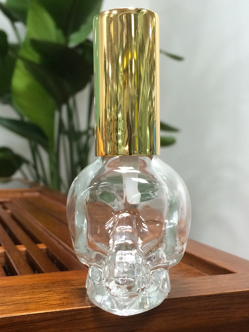 1fl.oz 30ml skull shape glass spray bottle