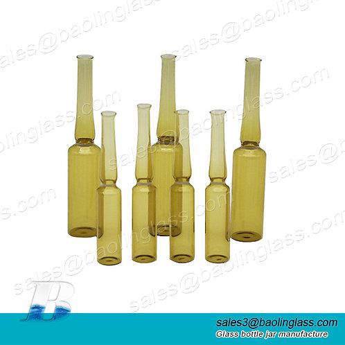 Customized 2ml3ml5ml10ml clear amber glass vial bottles pharmaceut ampoule